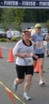 Over the 5k finish line 2010